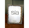 Photograph frame, rectangular, diamante and silver