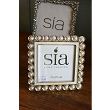 Photograph frame , square, silver with pearl effec
