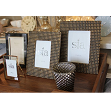 Photograph frame, rectangular, gold and dark grey